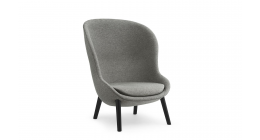 Hyg Lounge Chair High Black Oak - Normann Copenhagen